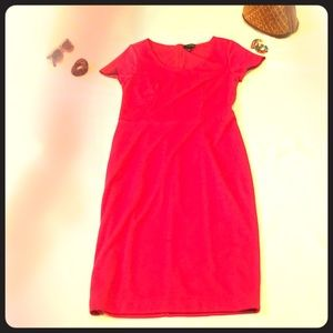 The Limited, hot pink Midi dress size 8